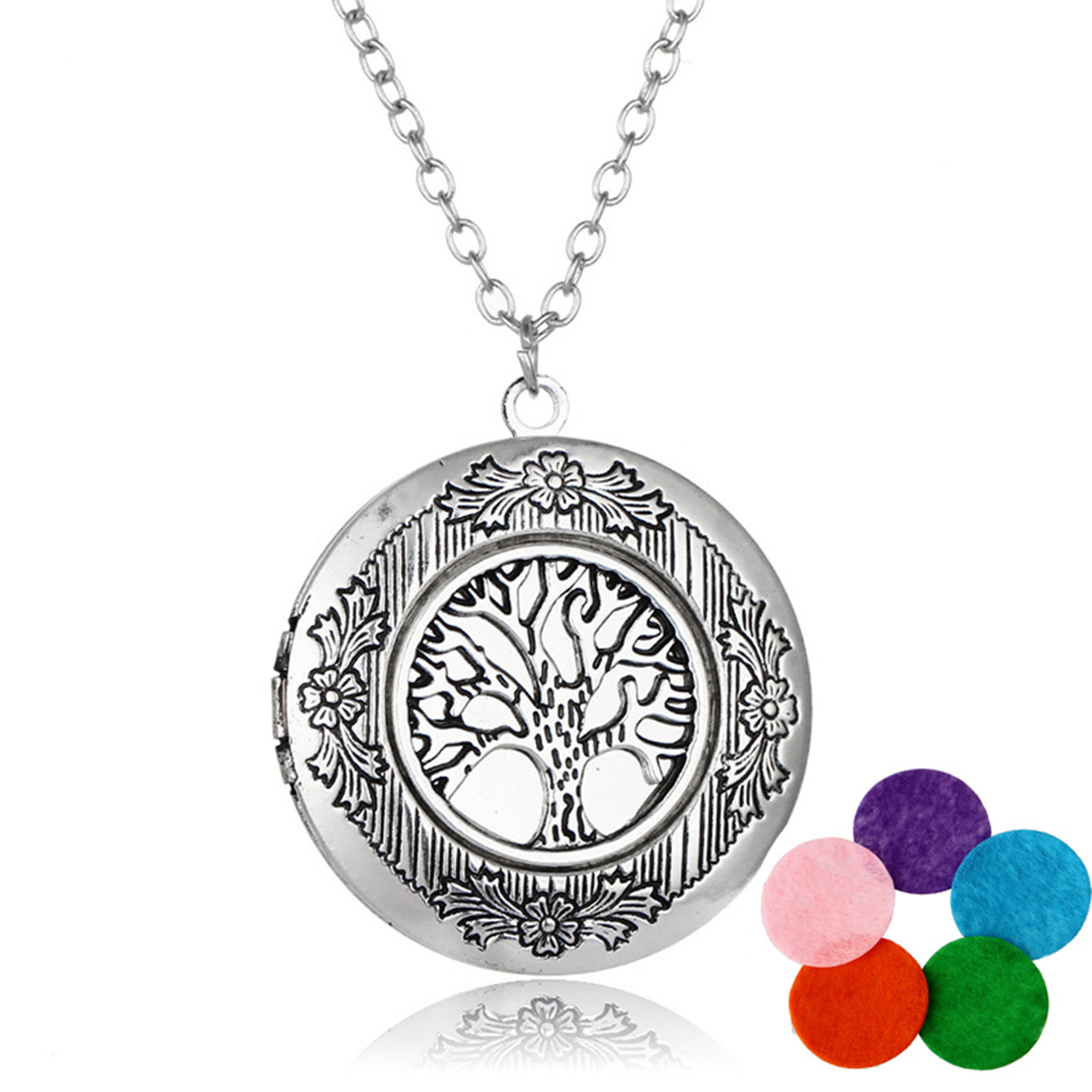 OBSEDE 2017 Newest Tree of Life Necklace Pendants 5 Colors Fs
