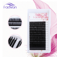 FADVAN10 Cases Set,16rows/tray, Mink Eyelash Extension,individual Eyelashes,fake Eye Lashes,natural Long Eyelashes Makeup