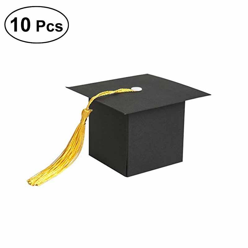 10pcs Doctor Hat Candy Box gift bag College High School Kids Nursing Graduation party boy girl birthday baby shower Decoration