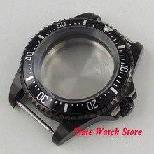 42 мм чехол с PVD покрытием, черный алюминиевый сплав, ободок, чехол для часов, подходит для ETA 2836 DG2813 3804 MIOTA 8215 8205 821A, механизм C18