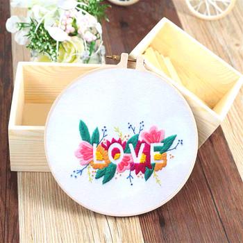 Kwiaty do składania miłość zestawy do haftowania zestawy do haftu krzyżykowego 3D Cartoon zestawy do robótek ręcznych dla początkujących Swing Arts malarstwo ręczne Home Decor tanie i dobre opinie Obrazy Floral Składane Bawełna Haft netto Nowoczesne PAPER BAG