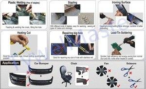 Image 5 - Carro Kit de Reparação De Carros de Plástico Tocha de Soldagem 210V 240V Plug UE Carenagem Corpo Auto Ferramenta Grampeador Quente