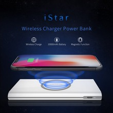 Qi Wireless Charger Power Bank NILLKIN 10000mAh External Battery Pack portable travel for iPhone X 8 Plus For Samsung For xiaomi