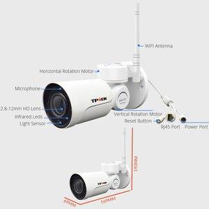 Image 5 - 1080P 2MP PTZ IP كاميرا واي فاي رصاصة في الهواء الطلق اللاسلكية واي فاي كاميرا مقاومة للماء CCTV الأمن مراقبة 4X زووم بصري IP كامارا