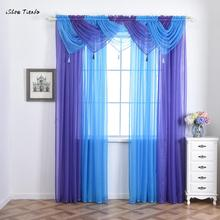ISHOWTIENDA New 1pc 45*45cm Curtain Voile Curtain Swags All Colours Pelmet  Valance Net Curtains