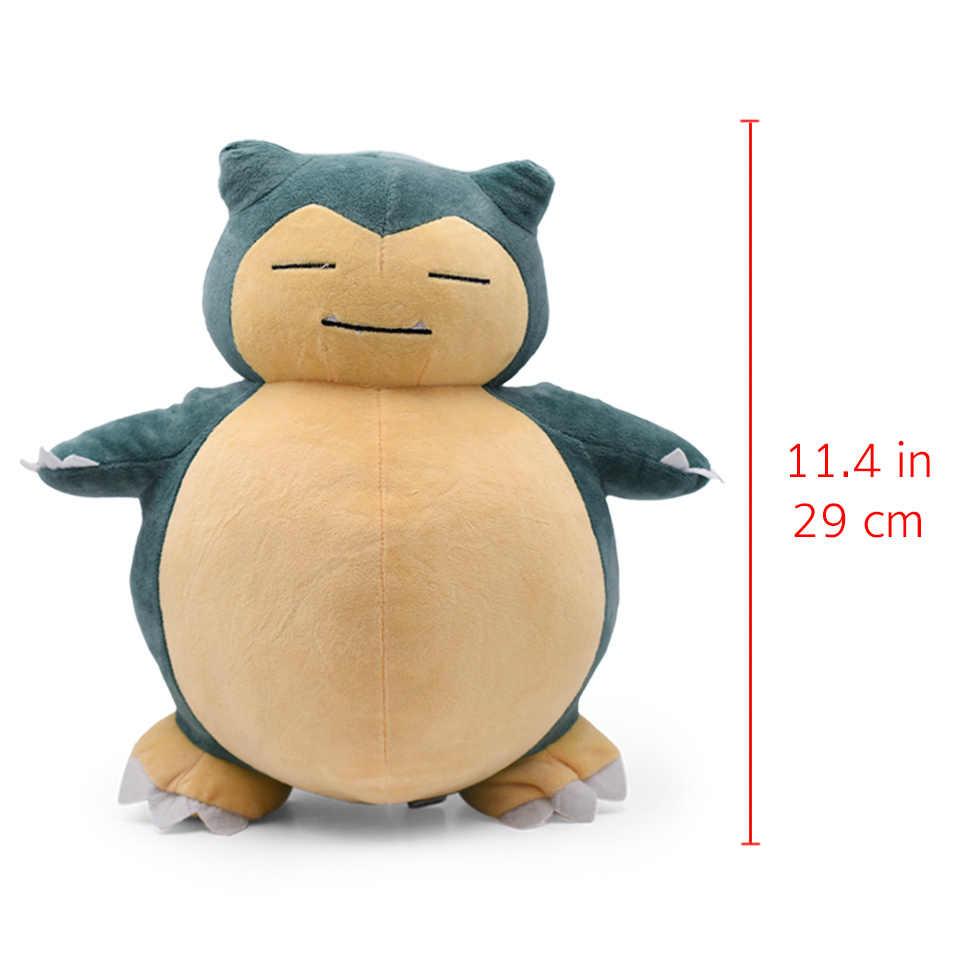 29-31cm 11.4-12.2 ''dedektif Snorlax peluş oyuncaklar Anime dolması peluş oyuncak büyük Snorlax yastık oyuncaklar yumuşak noel hediyesi