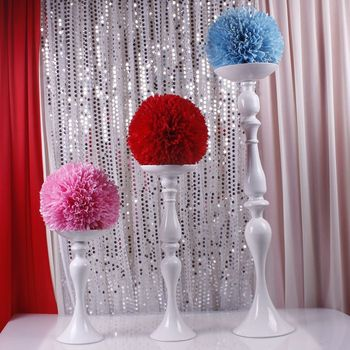 "30cm/11.81"" height wedding column flower T road lead white master table candlestick for wedding 10pcs/lot"