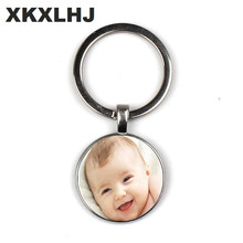 Handmade Personality Photo Family Photo Baby Child Dad Mom Brother Sister Grandparents Family Portrait Keychain Private Custom(China)