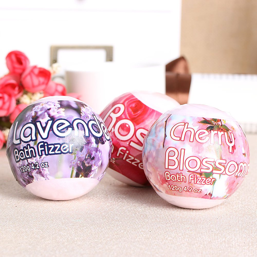 Ange Aile 3pcs Set 35g Natural Bubble Bath Ball Bomb Essential Oil Foam Aromatherapy Pure Peppermint Pink Lotus 1pc Handmade Flower Smell Sea Salt Moisturizing Whitening Booms