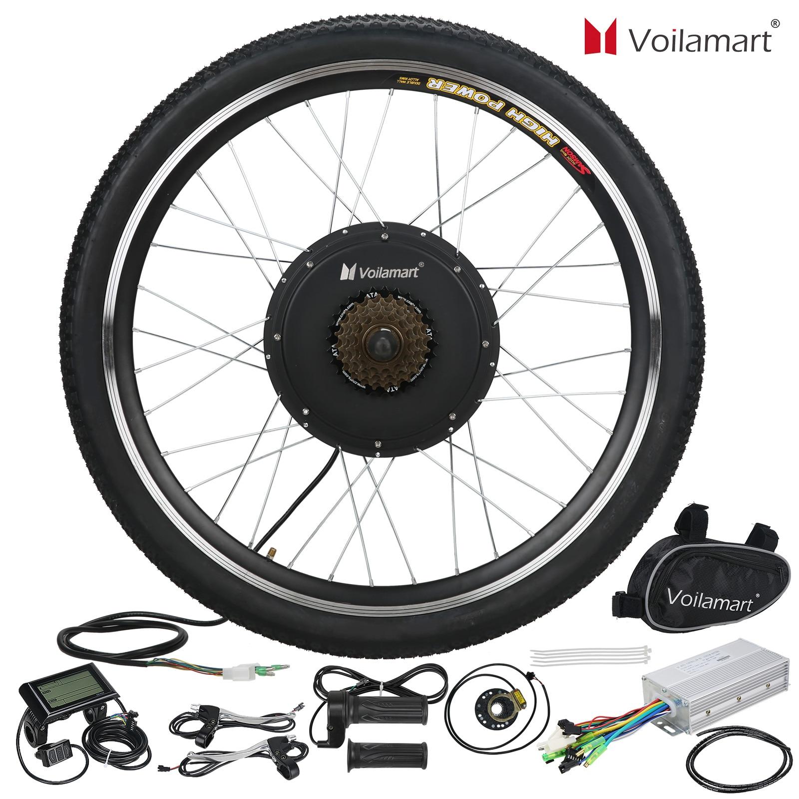 LCD 1000W Fat Bike Fat Wheel Electric Bicycle E Bike Hub Motor Conversion Kit