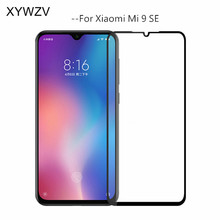 2PCS Full Glue Cover Glass For Xiaomi Mi 9 SE Tempered Screen Protector Film