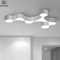 Modern Simple Geometric DIY Led Ceiling Lamp Foyer Free Combination Led Ceiling Light Luminaire Led Lighting