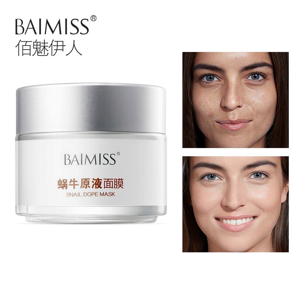 BAIMISS Schnecke Serum Gesicht Maske Reparatur Haut Akne Behandlung Maske Schwarzen Kopf Entferner Hautpflege Bleaching Gesichts Maske Gesicht Pflege 120g