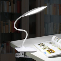 Student Eye Protection Table Lamp LED Desk Lamp With Clip On Desk Light Folding Touch Switch