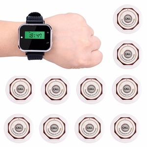 Image 2 - Retekess Waiter Calling System Restaurant Guest Pager Wireless For Cafe Wrist Watch Receiver+10 Call Button Transmitter F3360