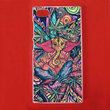 Funny Trippy Elephant Plastic Protective Shell Skin Bag Cover Case For Xiao Mi3