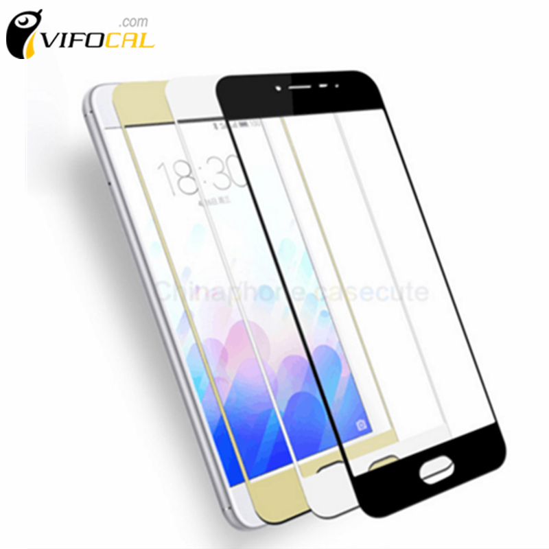 "Meizu M3 Note Tempered Glass Color 5.5"" Full Cover Screen Protector Film Guard For Meizu M3 Note Pro Prime Mobile Phone"