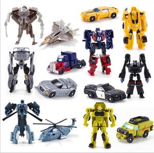 Image 1 - 1PCS Transformation Kinder Klassische Robot Autos Spielzeug Für Kinder Action & Spielzeug Figuren freies verschiffen