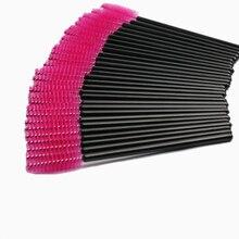 100 шт Одноразовые щеточки с тушью для ресниц палочки аппликаторы для ресниц косметические кисти набор инструментов для макияжа с бесплатной доставкой