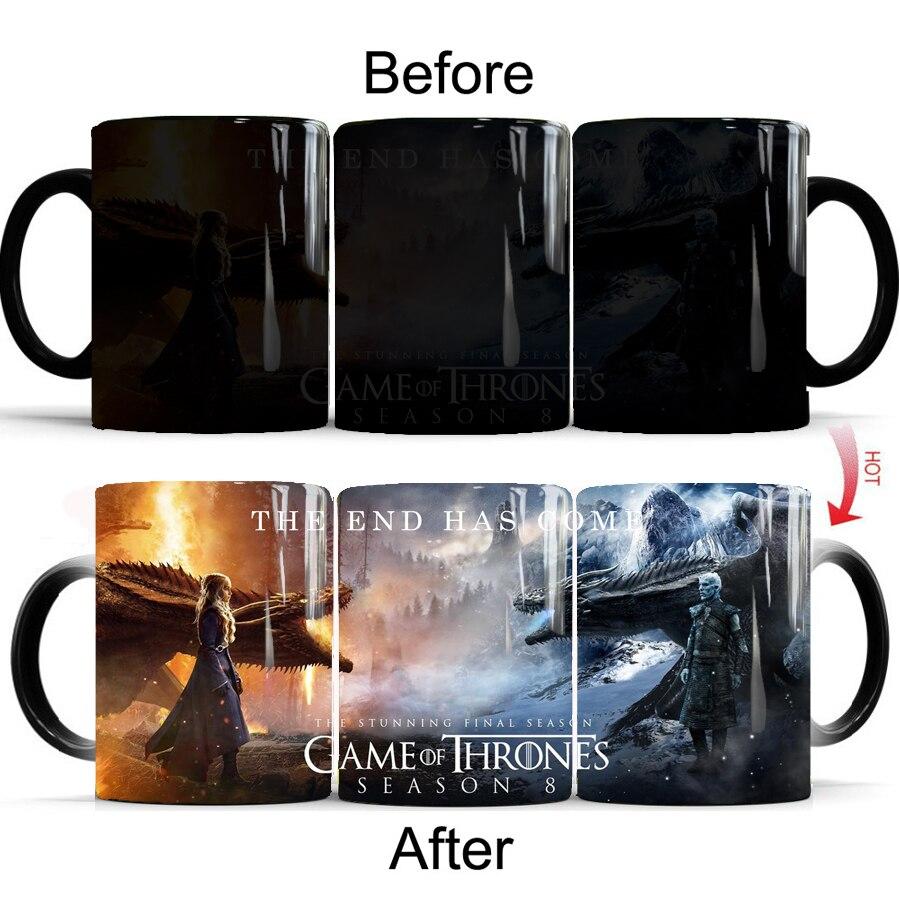 Игра престолов конец начинается кофе кружки изменяющая цвет керамика чашка-кружка best подарок кружка для друзей Прямая