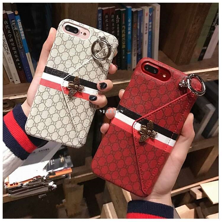 Vintage 3d Bee Wallet Multifunction Phone Cover Case For Iphone X Xs Max Xr 10 8 7 6 6s Plus Luxury Pu Leather Brand stand Coque