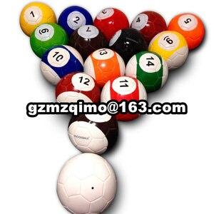 Гигантский надувной футбольный мяч для снукера в игре Snookball, огромный бильярдный мяч (воздушный насос + 16 шт. футбольная игрушка) Мячи