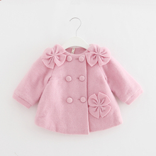 Winter Baby Girls Woolen Thicken Jacket Princess Christmas N