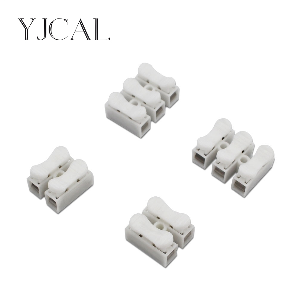 20PCS CH-2 CH-3 Press Connector Electrical Cable Clamp Connectors Quick Splice Lock Wire Terminals Block Spring Connector Wire ch 2 spring wire quick connector 1000pcs lot 2p g7 electrical crimp terminals block splice cable clamp easy fit led strip