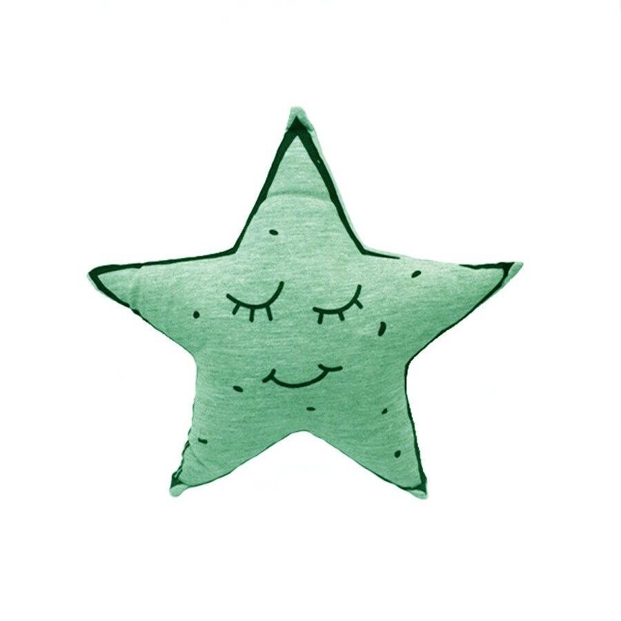 Colorful Star Pillows Led Light Luminous Pillow Soft Kawaii Plush Light Pillow Decorative Cushion Stuffed Doll Kids Toys Gifts