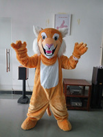 ohlees Grey Tan Wildcat Bobcat Mascot Costume for Halloween christmas Party Costume Adult Size custom made