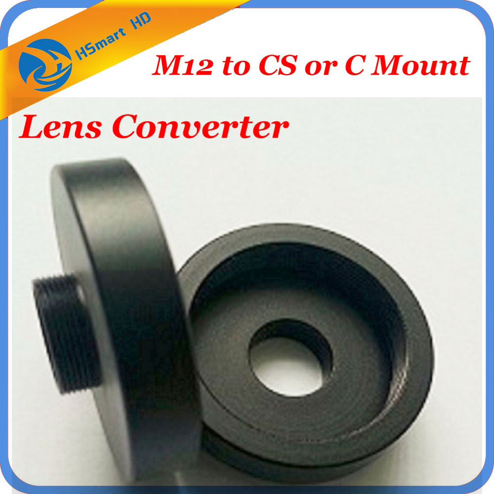 M12 to CS or C Mount Lens Converter/Adapter Ring (M12-C-CS) Camera Support new phototube to c mount camera adapter u tv1x 2