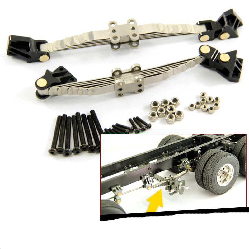 1Set 1/14 Tractor Truck Front Axle Suspension Assembly Kit Metal Bottom Frame Suspension Hanging Kits For Tamiya RC Trailers
