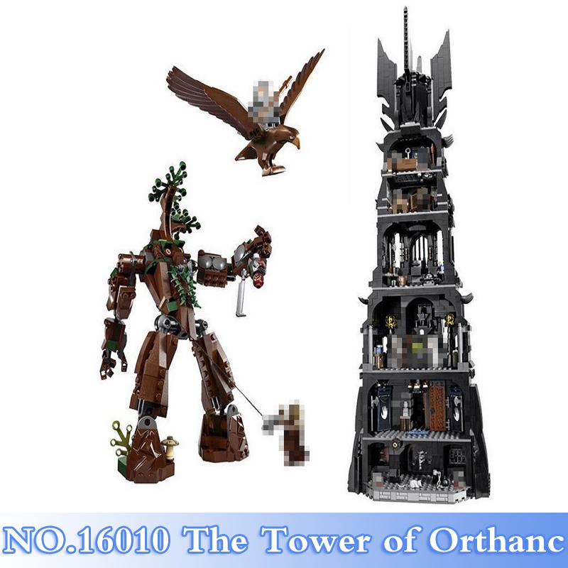 Lepin 16010 2430Pcs Lord of the Rings Tower of Orthanc Figures Building Blocks Bricks Set Kids Toy Model Kits Compatible 10237 a toy a dream lepin 15008 2462pcs city street creator green grocer model building kits blocks bricks compatible 10185