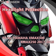 KODASKIN Motorcycle ABS Front Headlight Cover Protection Screen Lens for YAMAHA XMAX300 XMAX250 2017-2018