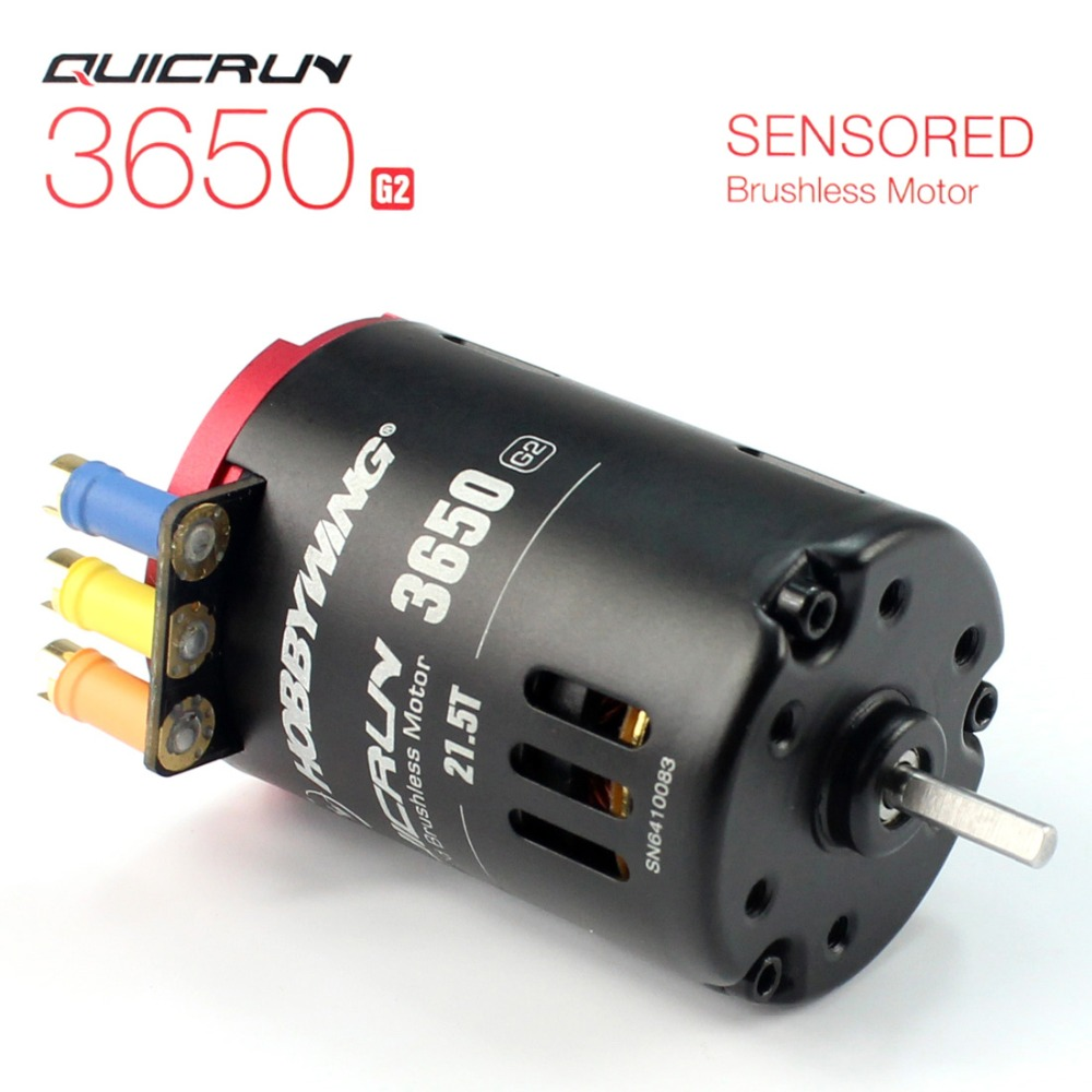 Hobbywing QUICRUN G2 3650 Sensored 6.5T / 8.5T /10.5T /13.5T / 17.5T / 21.5T Racing Brushless Motor for 1/10 Rc Car Crawler