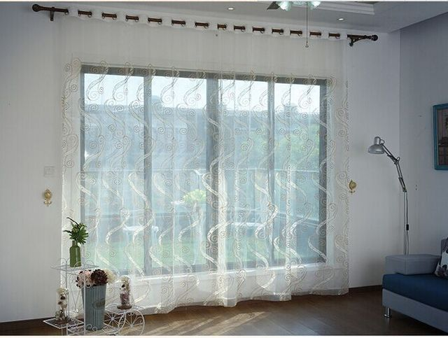 US $17.99 |Europäische Gestickte Voile Vorhänge Schlafzimmer Gardinen für  Wohnzimmer Tüll Gardinen/Panels Fenster screening in Europäische Gestickte  ...