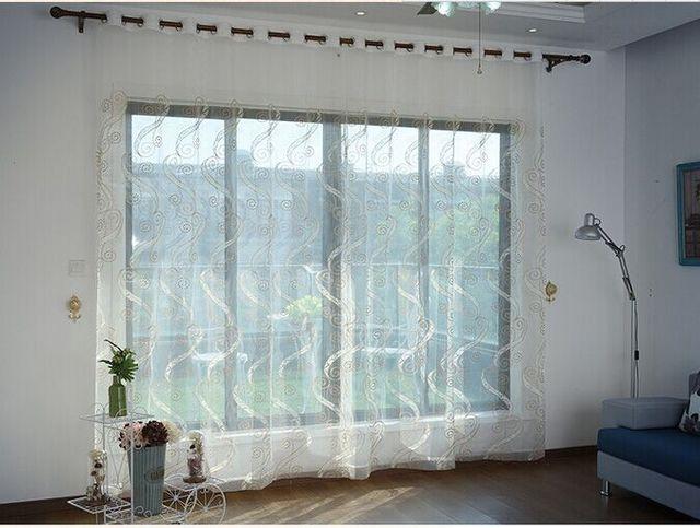 Gordijnen In Slaapkamer : Europese geborduurde voile gordijnen slaapkamer vitrage voor