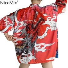 NiceMix Harajuku Kimonos Print Yukata Cosplay Women Tops Cardigan Shirts Summer 2019 Loose Japanese Blouses Thin