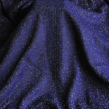 JaneYU Dark blue gold silk fabric autumn and winter clothes skirt fabric 50x160cm