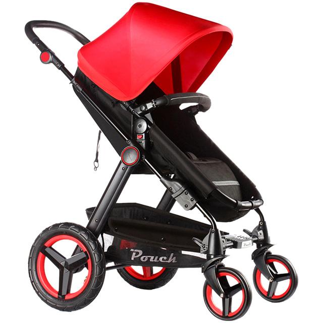 Pouch marca cochecito de bebé de coche de bebé de coche de niño plegable noria los vagones bb bebé 0 ~ 36 meses del bebé 2 en 1 cochecitos de colores