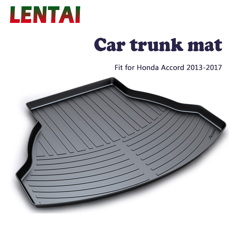 LENTAI 1PC rear trunk Cargo mat For <font><b>Honda</b></font> <font><b>Accord</b></font> 2013 2014 2015 <font><b>2016</b></font> 2017 Waterproof Boot Liner Tray Anti-slip mat <font><b>Accessories</b></font> image