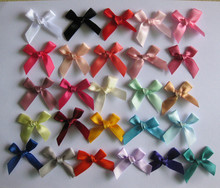"250pcs/lot 25 color (3/8"") New ribbon bows diy baby kids girl's hair decoration garment accessories"