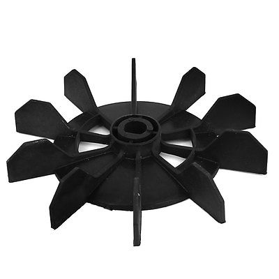 Air Compressor Part Plastic 13mm Inner Dia Ten Vane Motor Fan Blade Black image