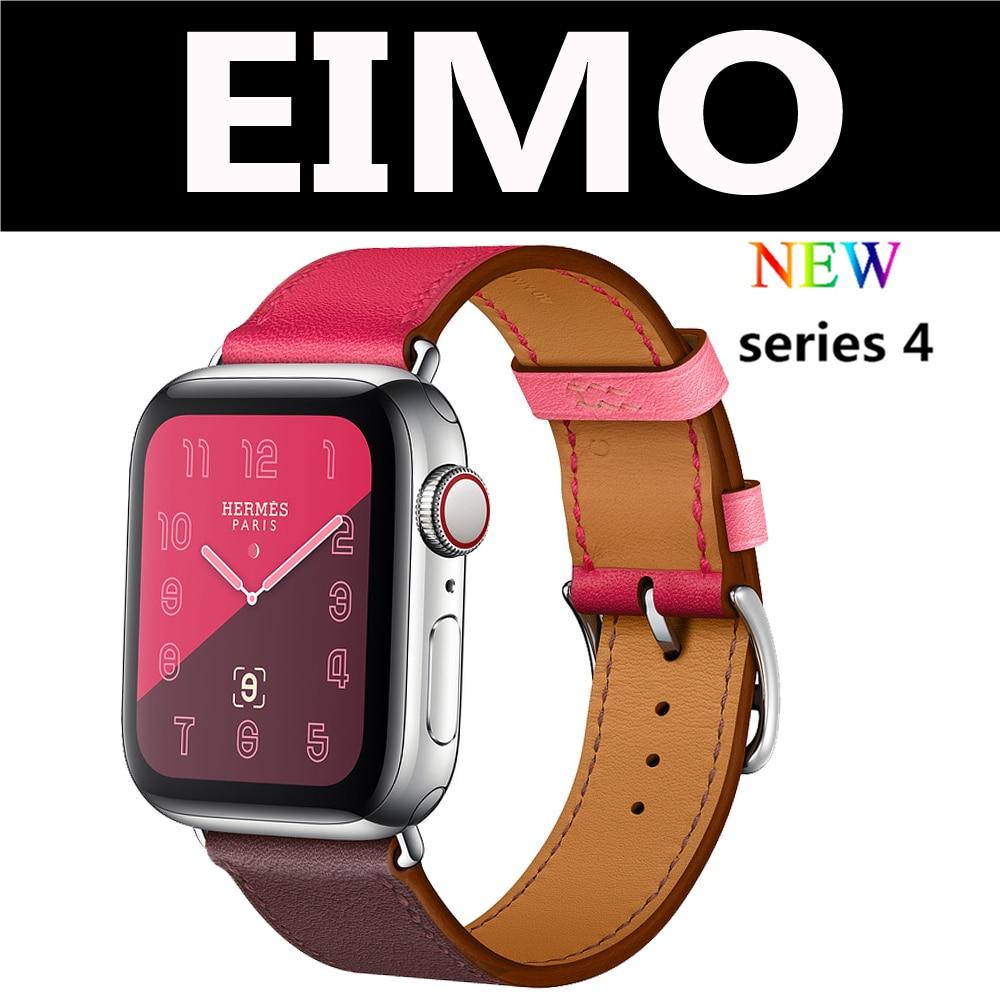 Lederband für apple watch band 4 44mm 40mm einzigen tour armband armband iwatch serie 4/3/ 2/1 38mm 42mm ersatz gürtel