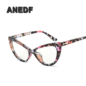 ANEDF Brand Design Luxury Fashion Cat Eye Clear Glasses Women Vintage Brand Ladies Eyeglasses Spectacle Frames Glasses Clear