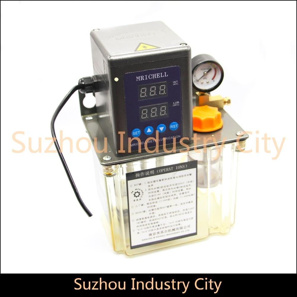 1.5L 220 V AC pompe de lubrification automatique électrique CNC gravure routeur machine automatique pompe à huile Double numérique