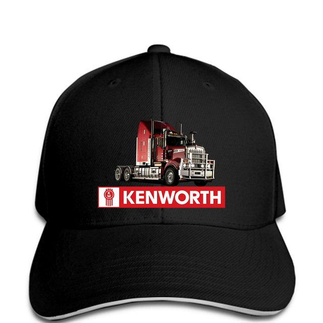 2994628b01368 Men Baseball cap New Fashion Popular Kenworth Truck Peterbilt Black L funny  Hat novelty tsnapback women1