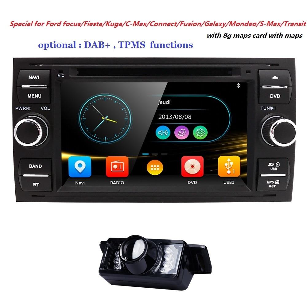 LIVRAISON GRATUITE ReadyStock Usine vente OEM fit radio pour Ford/Focus/Mondeo/Transit/CMX Voiture DVD GPS Stéréo de voiture multimédia RDS DAB +