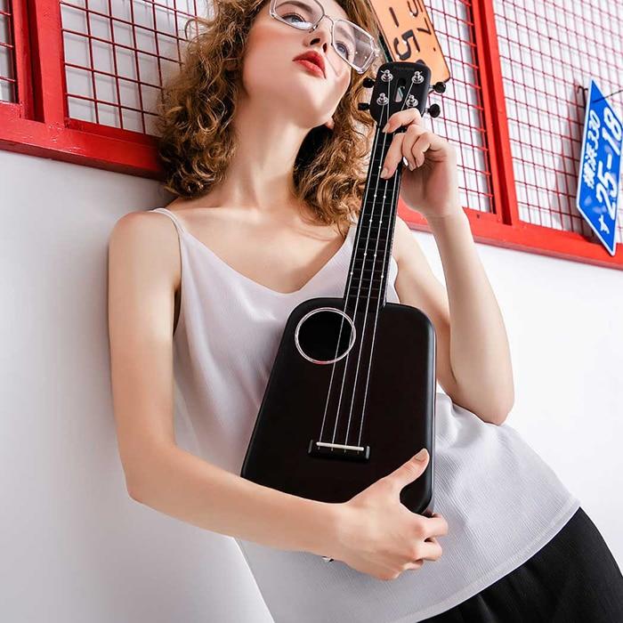 Popular 2 LED Bluetooth 23 pulgadas USB inteligente ukelele aprendizaje educativo juguete instrumento Musical regalos - 6