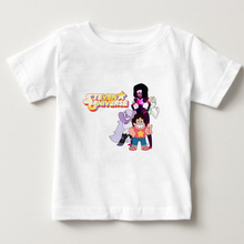 2019 Fashion Cartoon T Shirt O-Neck Steven Universe Top Kids T-Shirt Summer Cotton T-shirt Boy/girl T Shirts Baby Tees YUDIE цена и фото